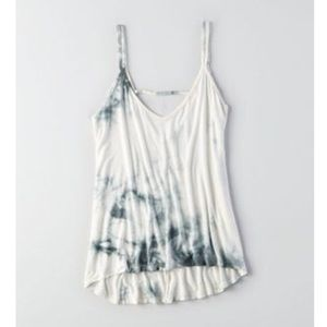 Don't Ask Why Off-White Strappy Tie-Dye Tank